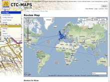 CTC Maps: World route map