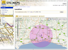 CTC Maps: Cyclists Welcome establishment locator